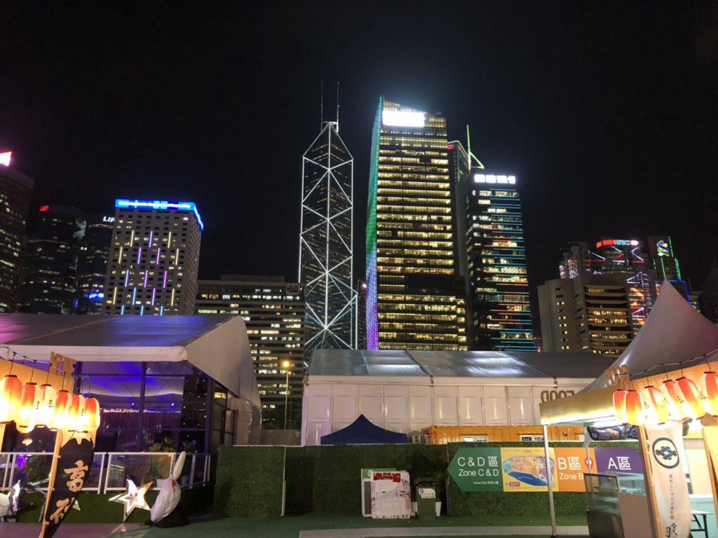 香港の綺麗な夜景